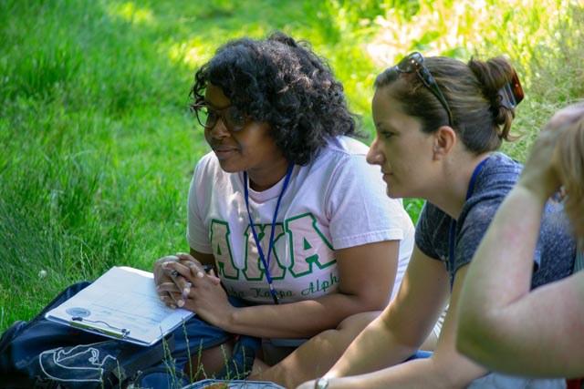 2019 APPL-Red Participants observing pollinator visitation to plants.