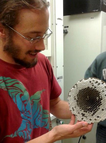 Nathan Derstine in the lab