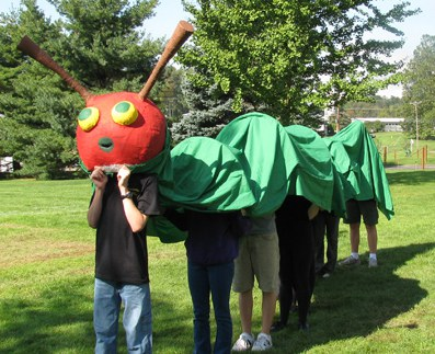 Hungry caterpillar on parade