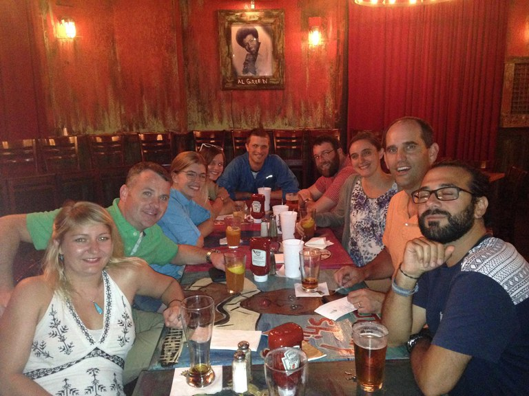 Lab dinner at ICE 2016 in Orlando